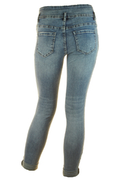skinny jeans hoge taille