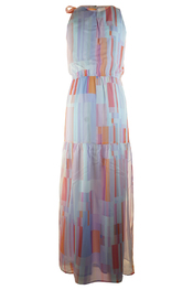 Maxi jurk multi color