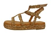 Sandalen van het merk Garde-robe in het Camel