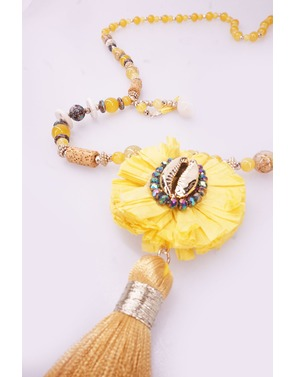 Garde-robe - Lange Halsketting - Geel