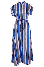 Lang Kleed van het merk Garde-robe in het Wit-blauw