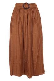 Soya - Halflange Rok - Donker bruin