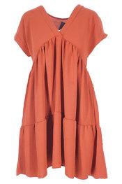 Halflang Kleedje van het merk Garde-robe in het Donker oranje