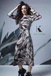 Lang Kleed van het merk K-design in het Multicolor