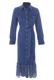 Lang Kleed van het merk K-design in het Blauw