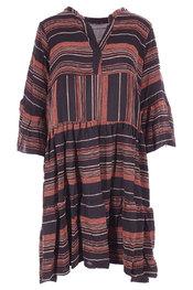 Halflang Kleedje van het merk Garde-robe in het Zwart-bruin