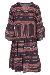 Garde-robe - Halflang Kleedje - Zwart-bruin
