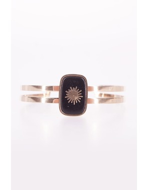 Garde-robe - Armband - Zwart-goud