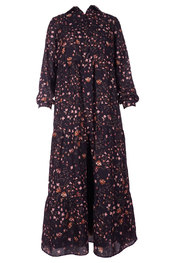 Senso - Lang kleed - Zwart-roze