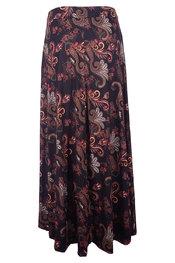 Lange Rok van het merk Garde-robe in het Zwart-bruin