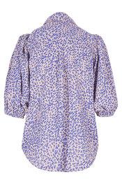 Blouse van het merk Garde-robe in het Blauw-beige