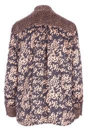 Blouse van het merk Garde-robe in het Zwart-bruin