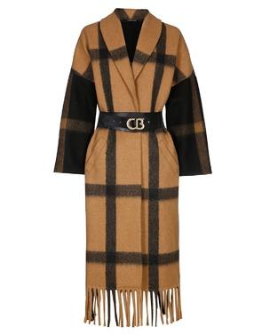 Mantel van het merk Caroline Biss in het Zwart-beige