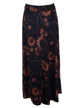 Lange Rok van het merk Garde-robe in het Blauw-bruin