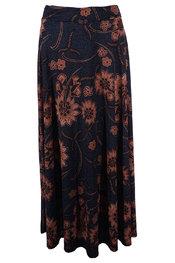 Garde-robe - Lange Rok - Blauw-bruin