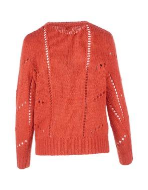 Pull van het merk K-design in het Donker oranje