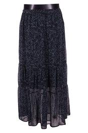 Garde-robe - Lange Rok - Zwart-groen