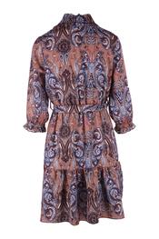 Halflang Kleedje van het merk Garde-robe in het Blauw-beige