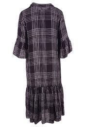 Soya - Lang kleed - Zwart-grijs