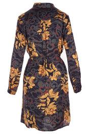 Garde-robe - Halflang Kleedje - Zwart-geel