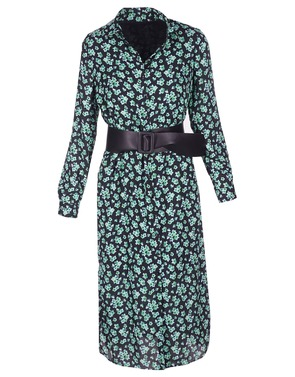 Senso - Lang kleed - Zwart-groen