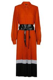 Lang Kleed van het merk Caroline Biss in het Donker oranje