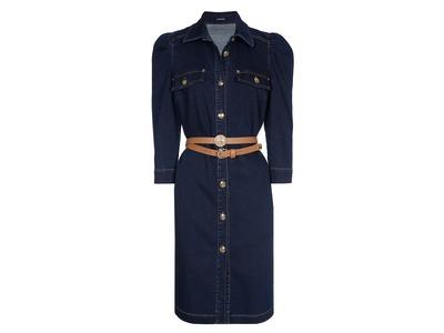 Halflang Kleedje van het merk Caroline Biss in het Jeans
