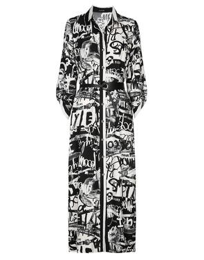 Lang Kleed van het merk Caroline Biss in het Zwart-wit