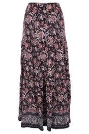 K-design - Lange Rok - Zwart-roze