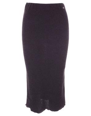 Amelie-amelie - Halflange Rok - Zwart