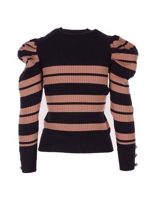 Pull van het merk Garde-robe in het Zwart-bruin