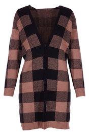 Gilet van het merk Garde-robe in het Zwart-bruin