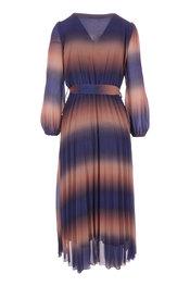 Amelie-amelie - Lang kleed - Blauw-bruin
