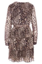 Garde-robe - Halflang Kleedje - Zwart-beige