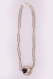 Halsketting van het merk Garde-robe in het Zwart-goud