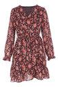 Garde-robe - Halflang Kleedje - Zwart-roze