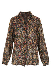 Garde-robe - Blouse - Zwart-roze