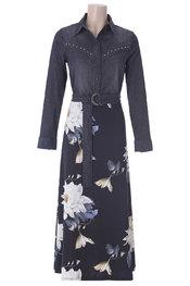 Lang Kleed van het merk K-design in het Zwart-grijs