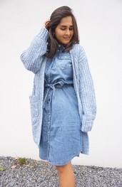 Halflang Kleedje van het merk Garde-robe in het Jeans licht
