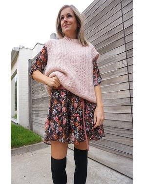 Rinascimento - Halflang Kleedje - Zwart-roze