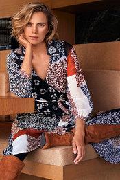 Lang Kleed van het merk Caroline Biss in het Zwart-blauw