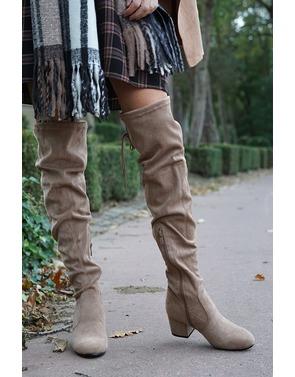 Lange Laarzen van het merk Garde-robe in het Beige