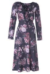 K-design - Halflang Kleedje - Zwart-roze