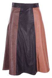 Rinascimento - Halflange Rok - Zwart-bruin