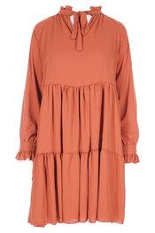 Amelie-amelie - Halflang Kleedje - Donker oranje