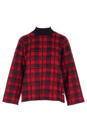 Garde-robe - Pull - Zwart-rood