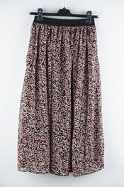 Soya - Halflange Rok - Zwart-roze