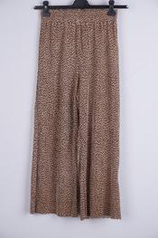 Soya - Lange Broek - Zwart-beige