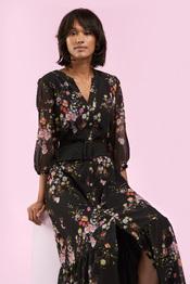 Senso - Lang kleed - Zwart