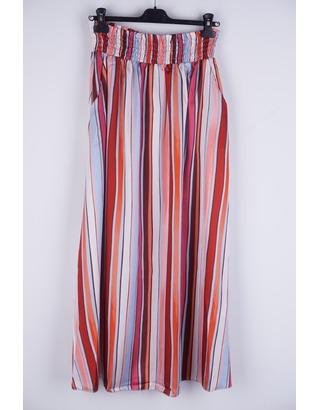 Garde-robe - Lange Rok - Blauw-roze
